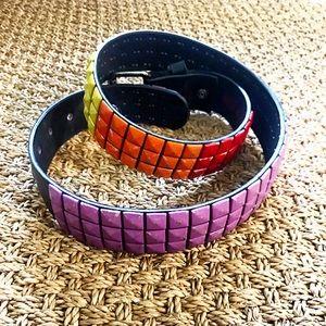 Rainbow Studded Belt
